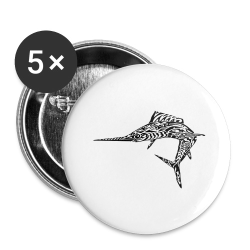 The Black Marlin - Buttons large 2.2''/56 mm (5-pack)