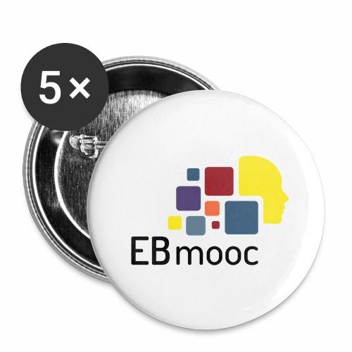 EBmooc Logo - Buttons groß 56 mm (5er Pack)