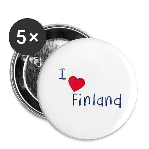 I Love Finland - Rintamerkit isot 56 mm (5kpl pakkauksessa)