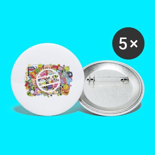 maglia logo doodle - Confezione da 5 spille grandi (56 mm)