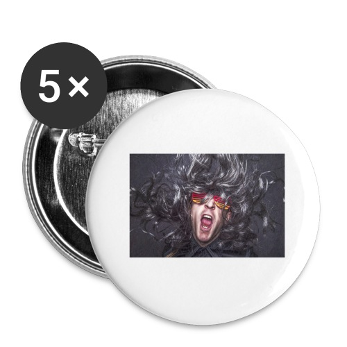 Party - Buttons groß 56 mm (5er Pack)