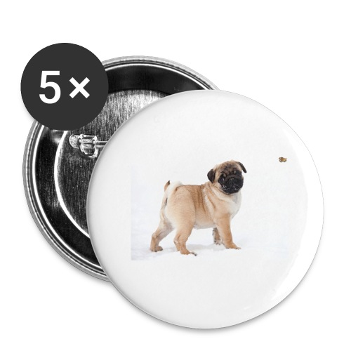 walker family pug merch - Buttons large 2.2''/56 mm(5-pack)