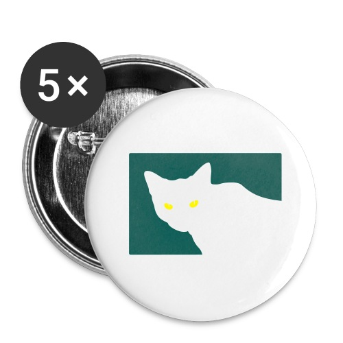 Spy Cat - Buttons large 2.2''/56 mm (5-pack)