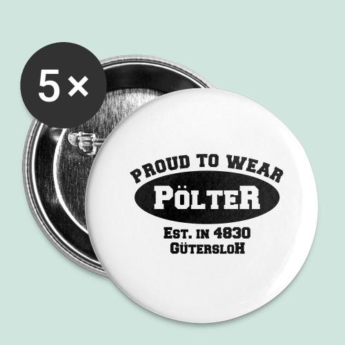 Pölter - Buttons groß 56 mm (5er Pack)