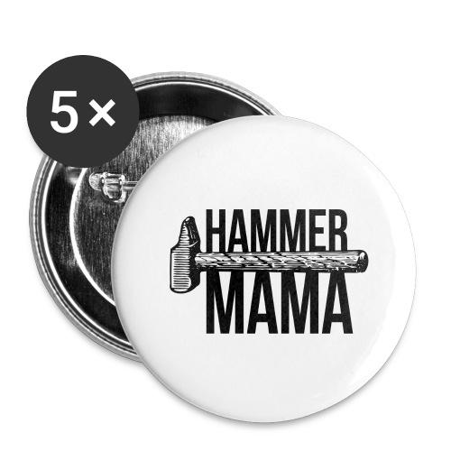Hammer Mama - Buttons groß 56 mm (5er Pack)