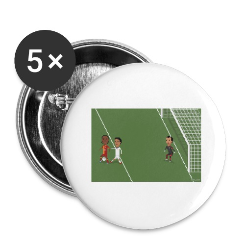 Backheel goal BG - Buttons large 2.2''/56 mm (5-pack)