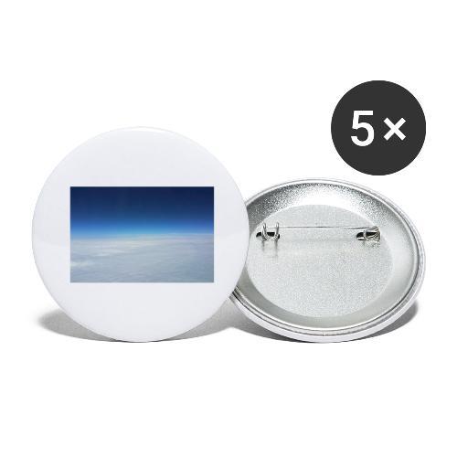 blauer Himmel, weiße Wolken - Flug über Australien - Buttons groß 56 mm (5er Pack)
