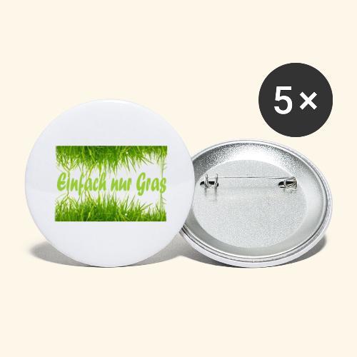 einfach nur gras2 - Buttons groß 56 mm (5er Pack)