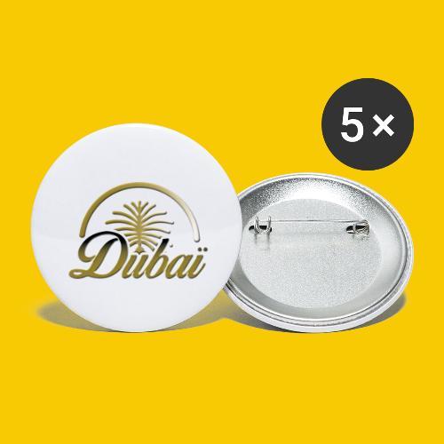 DUBAI - Lot de 5 grands badges (56 mm)