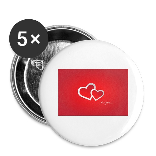 for you - Buttons groß 56 mm (5er Pack)
