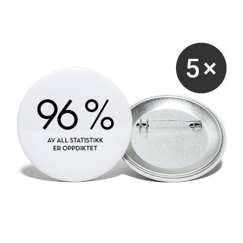 Statistikk-sprøyt (fra Det norske plagg) - Stor pin 56 mm (5-er pakke)
