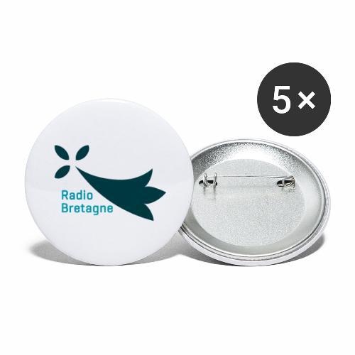 Logo Radio Bretagne - Lot de 5 grands badges (56 mm)