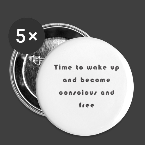Time to wakeup - Buttons large 2.2''/56 mm(5-pack)