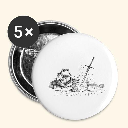 Ashen Frosch - Buttons groß 56 mm (5er Pack)