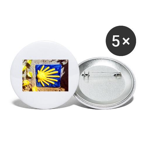 concha ceramica - Confezione da 5 spille grandi (56 mm)