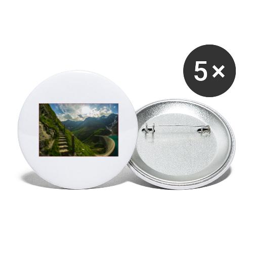 Stairs - Buttons groß 56 mm (5er Pack)