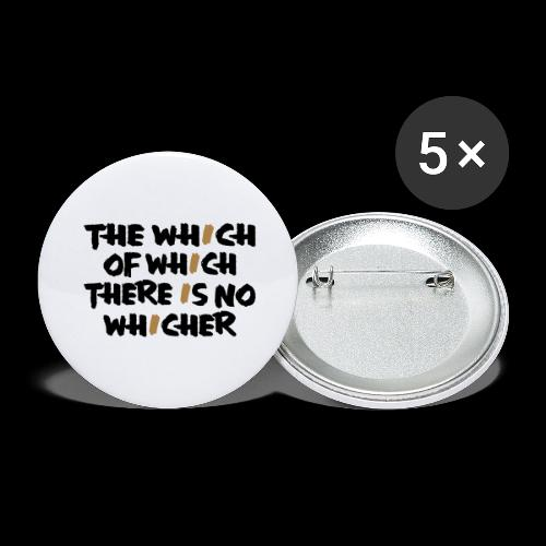 whichwhichwhich - Buttons groß 56 mm (5er Pack)