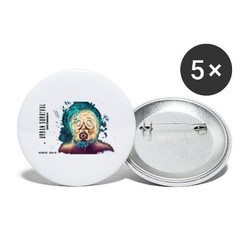 mask black - Buttons groß 56 mm (5er Pack)