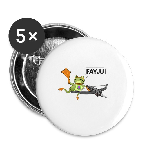 Amazing Frog Crossbow - Buttons large 2.2''/56 mm(5-pack)
