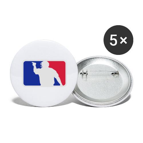 Baseball Umpire Logo - Buttons large 2.2''/56 mm(5-pack)