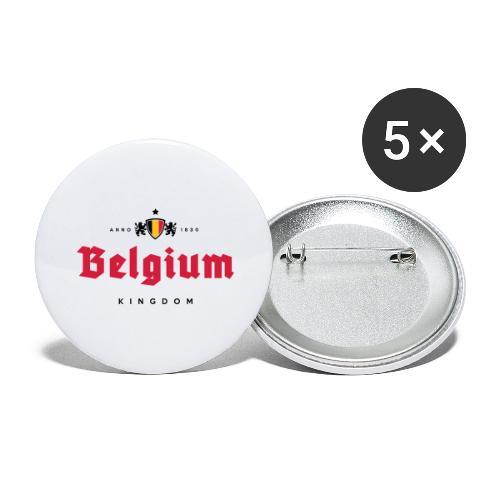 Bierre Belgique - Belgium - Belgie - Lot de 5 grands badges (56 mm)