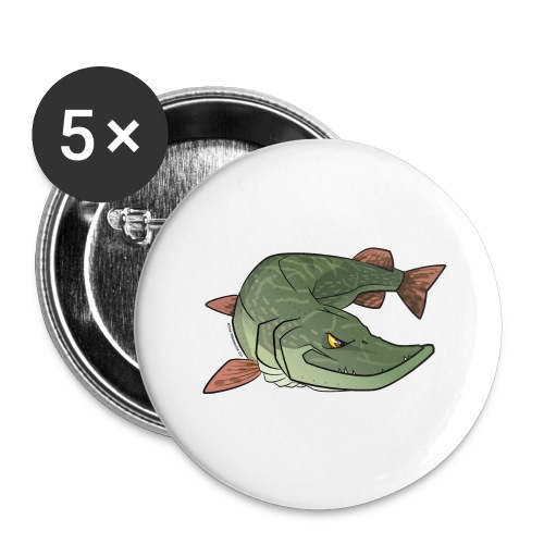 Red River: Pike - Buttons large 2.2''/56 mm (5-pack)