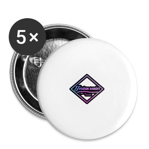 jordan sennior logo - Buttons large 2.2''/56 mm(5-pack)