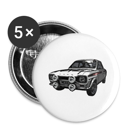Mk1 Escort - Buttons large 2.2''/56 mm (5-pack)