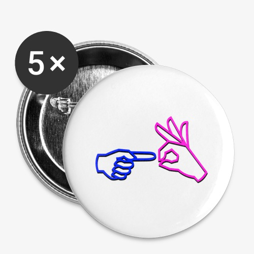 Fuck them! (Logo Edition) - Buttons large 2.2''/56 mm (5-pack)
