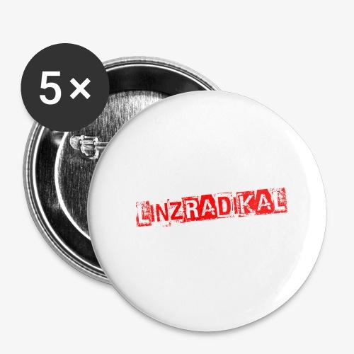 Linzradikal rot - Buttons groß 56 mm (5er Pack)