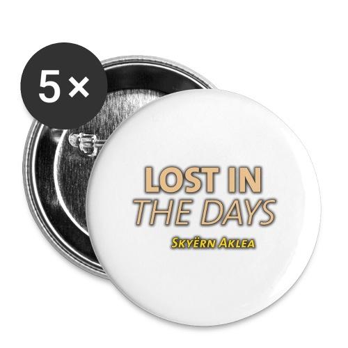 SKYERN AKLEA LOST IN THE DAYS - Lot de 5 grands badges (56 mm)