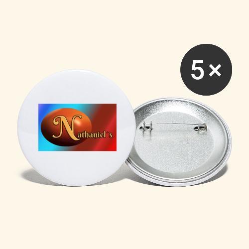 NathanielsLogo2 - Buttons groß 56 mm (5er Pack)