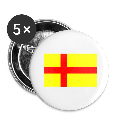 Rigens baner - Stora knappar 56 mm (5-pack)
