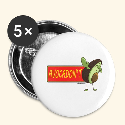 AvocaDON'T - Buttons large 2.2''/56 mm (5-pack)