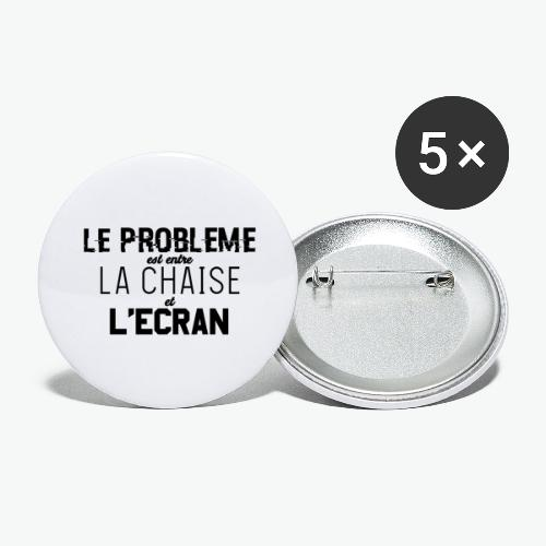 Le vrai problème - Lot de 5 grands badges (56 mm)