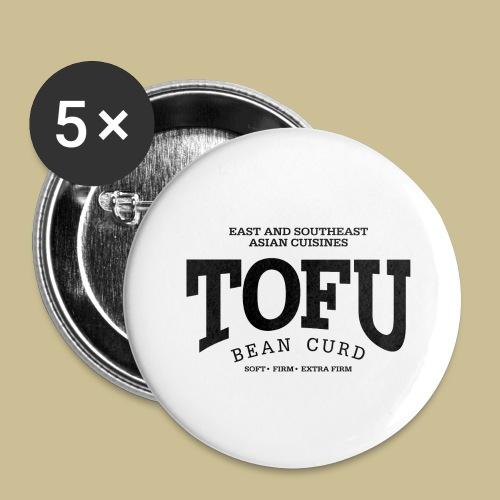 Tofu (black) - Buttons groß 56 mm (5er Pack)