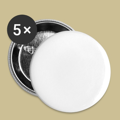 Tofu (white) - Buttons groß 56 mm (5er Pack)