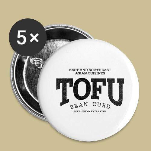 Tofu (black oldstyle) - Buttons groß 56 mm (5er Pack)