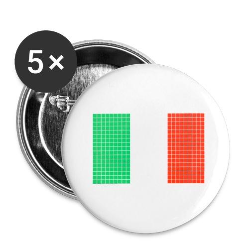 italian flag - Confezione da 5 spille grandi (56 mm)