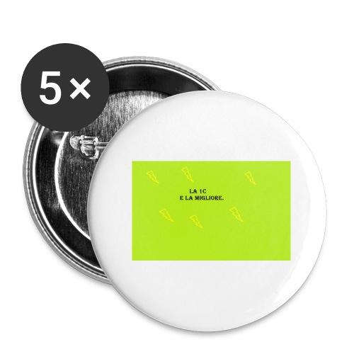 la migliore e la 1c - Confezione da 5 spille grandi (56 mm)