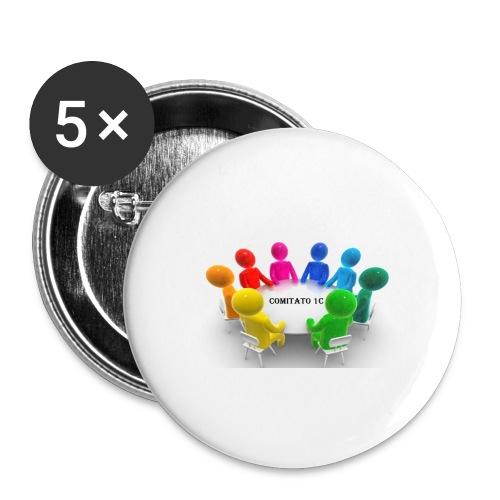 comitato 1c - Confezione da 5 spille grandi (56 mm)