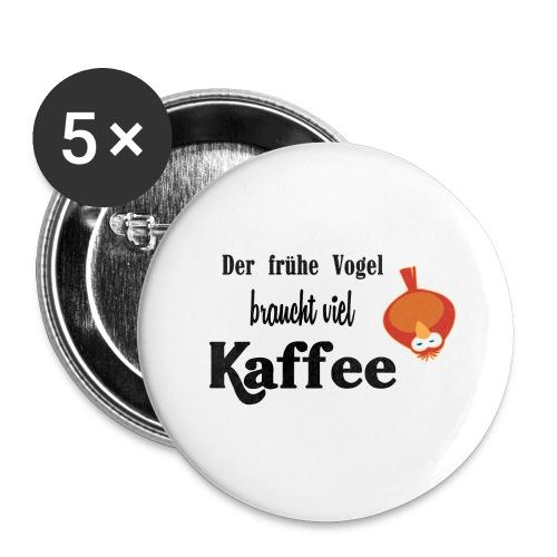 kaffeeVogel.png - Buttons groß 56 mm (5er Pack)