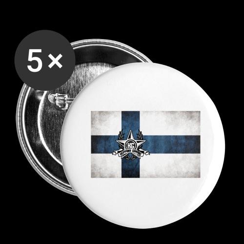 Suomen lippu - Rintamerkit isot 56 mm (5kpl pakkauksessa)
