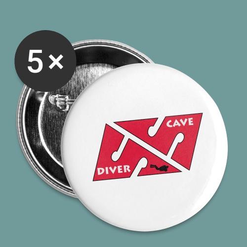cave_diver_01 - Lot de 5 grands badges (56 mm)