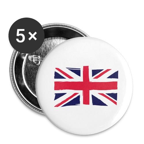 vlag engeland - Buttons groot 56 mm (5-pack)