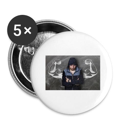 Power - Buttons groß 56 mm (5er Pack)