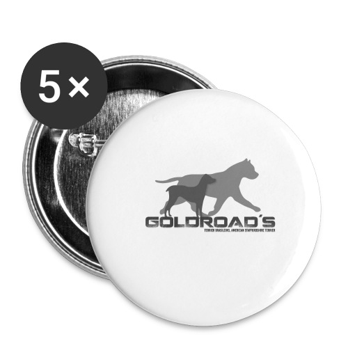 Goldroads - Stora knappar 56 mm (5-pack)