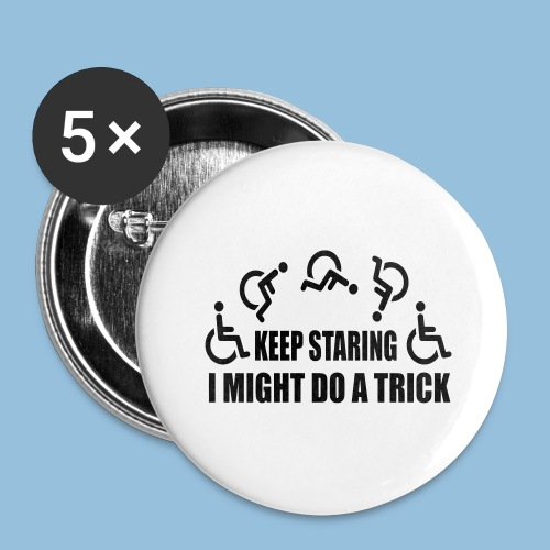Mightdoatrick1 - Buttons groot 56 mm (5-pack)