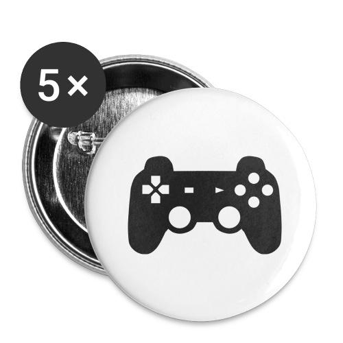 Gaming T-Shirt - Buttons groß 56 mm (5er Pack)