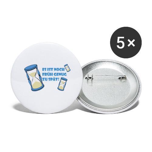 LEBE - bevor Dir die Zeit davon rennt - LEBE! - Buttons groß 56 mm (5er Pack)